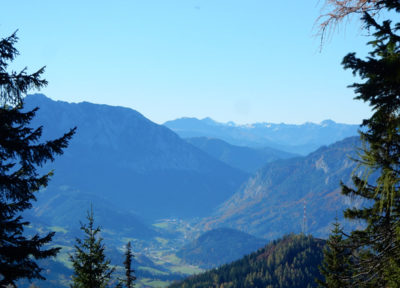 Auf dem Weg zum Steyreck: Ausblick Richtung Süden
