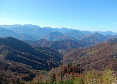 Ausblick vom Schneeberg Richtung Westen
