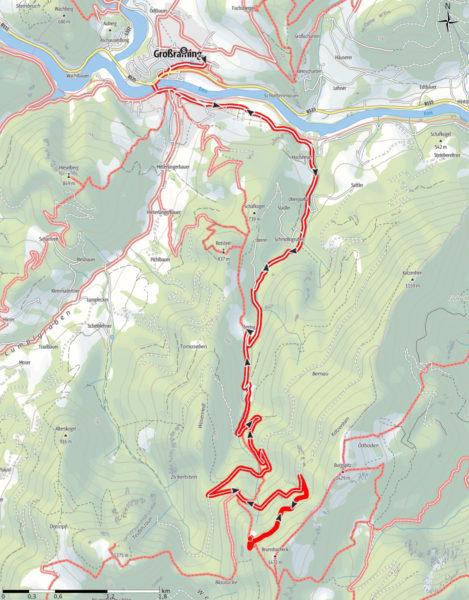 Ennser Hütte: Route