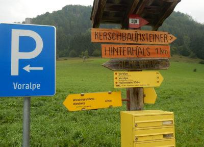 """Start beim Parkplatz """"Voralpe"""""""