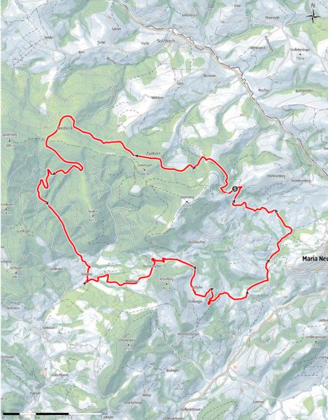 Rund um den Glasenberg: Route