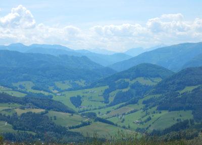 Ausblick vom Glasenberg-Gipfel