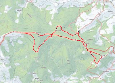 Route Glasenberg - Spadenberg
