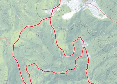 Route Niglalm - Borsee