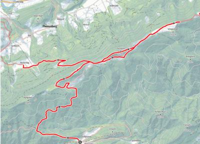 Route von Promau nach Hochschlag