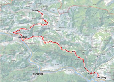 Sebaldusweg - Etappe 1: Großraming-Losenstein-Laussa