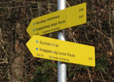 """Wir folgen dem """"Rundweg Höhenberg"""""""