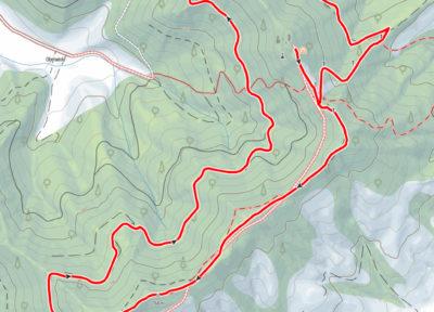 Route rund um den Heiligenstein
